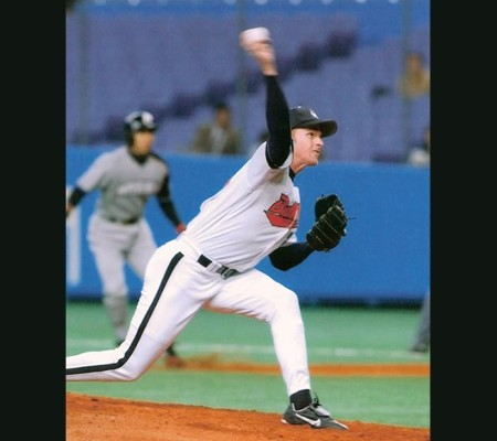 Pitching for the Osaka Japan Buffaloes