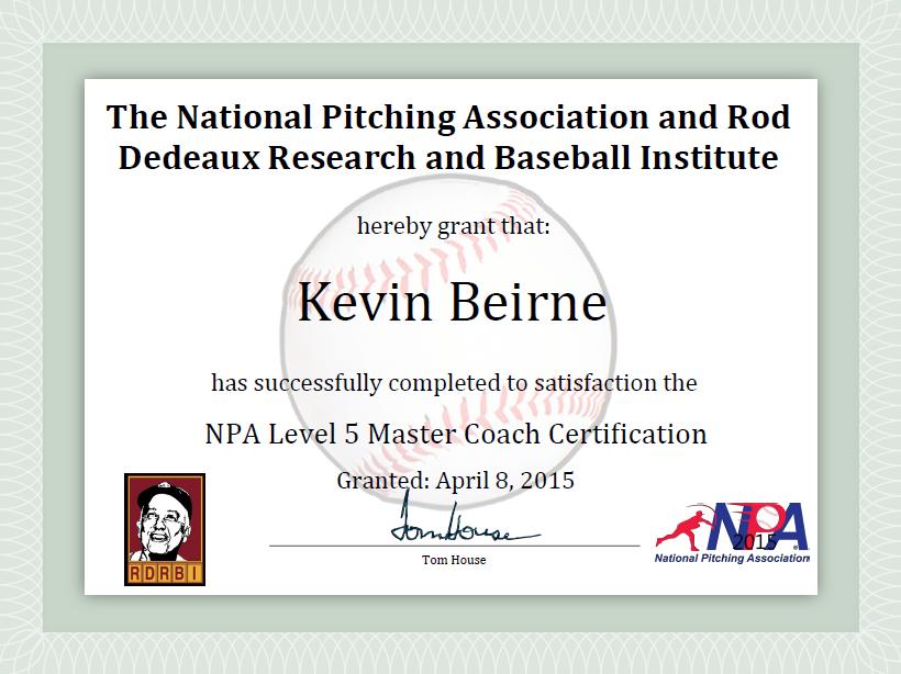 NPA Level 5 Master Coach Certification