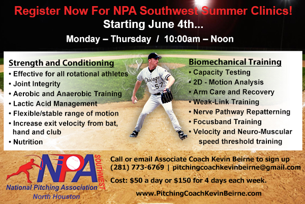 Pitching Clinic Summer Camp June 2018